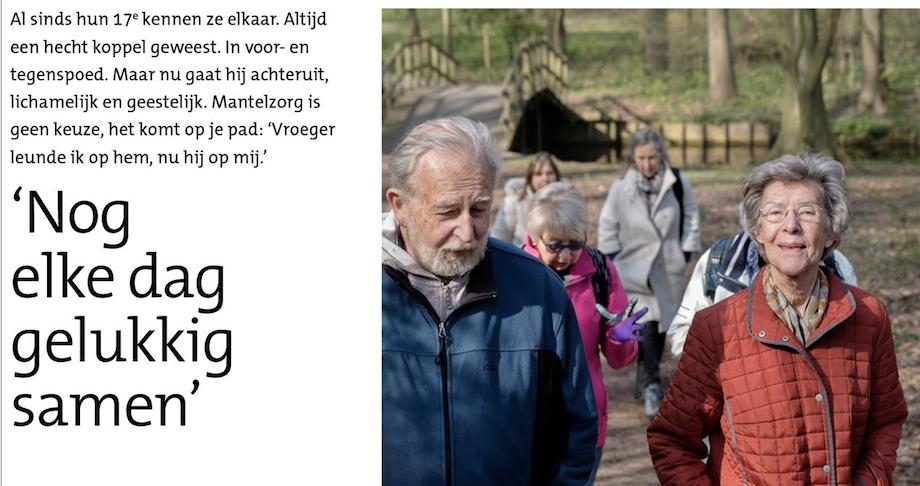 Mooi verhaal in de Stadskrant: 'Nog elke dag gelukkig samen'
